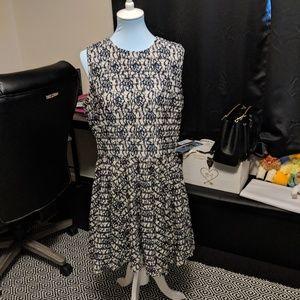 Lace Striped Maison Jules Dress